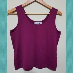 Chicos Fuscia Pink Tank Top | Round Neck | Stretch